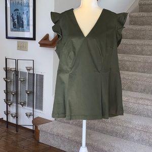Ruffle sleeveless Peplum Top by Lane Bryant
